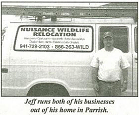 Trapper Jeff Norris of Nuisance Wildlife Removal.